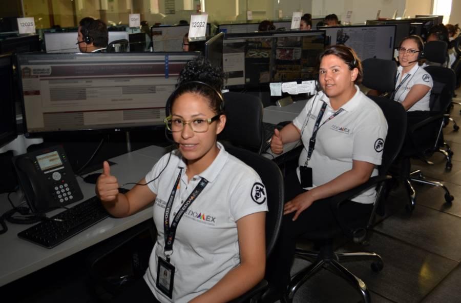 Sistemas 911 y 089 en Edomex reciben 7.2 millones de llamadas en 2019