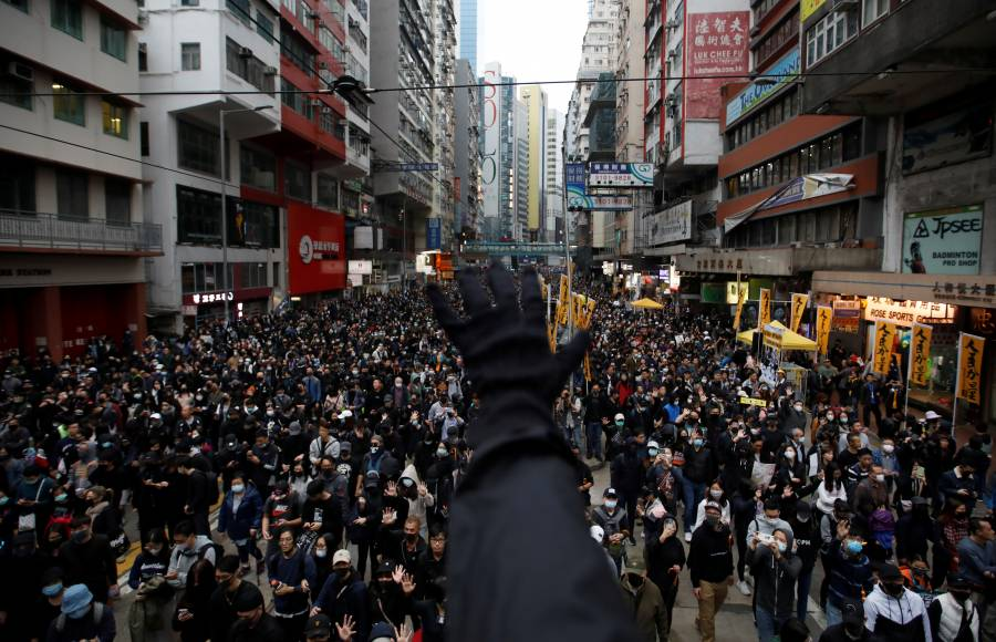 Protestan más de un millón en Hong Kong