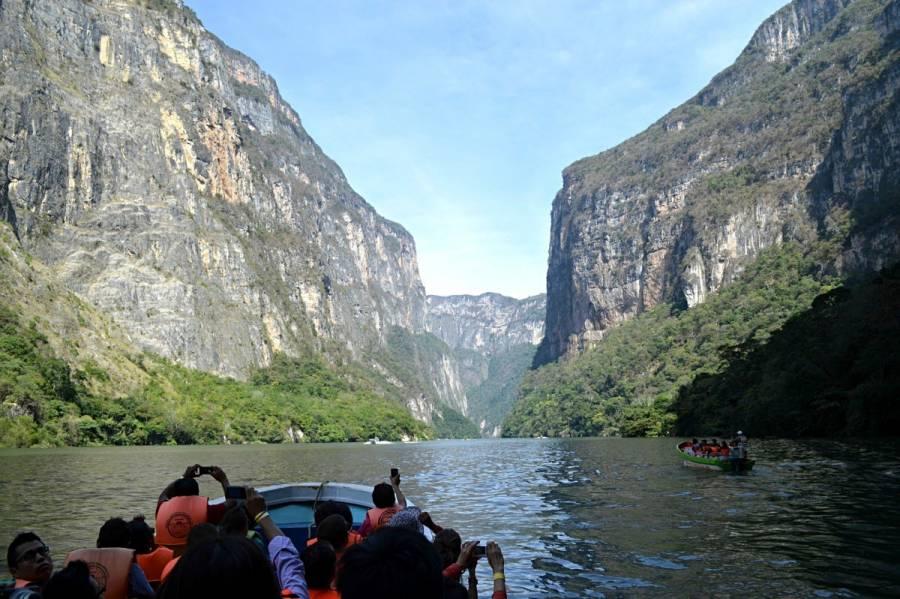 Captan fuerte derrumbe en Cañón del Sumidero [Video]