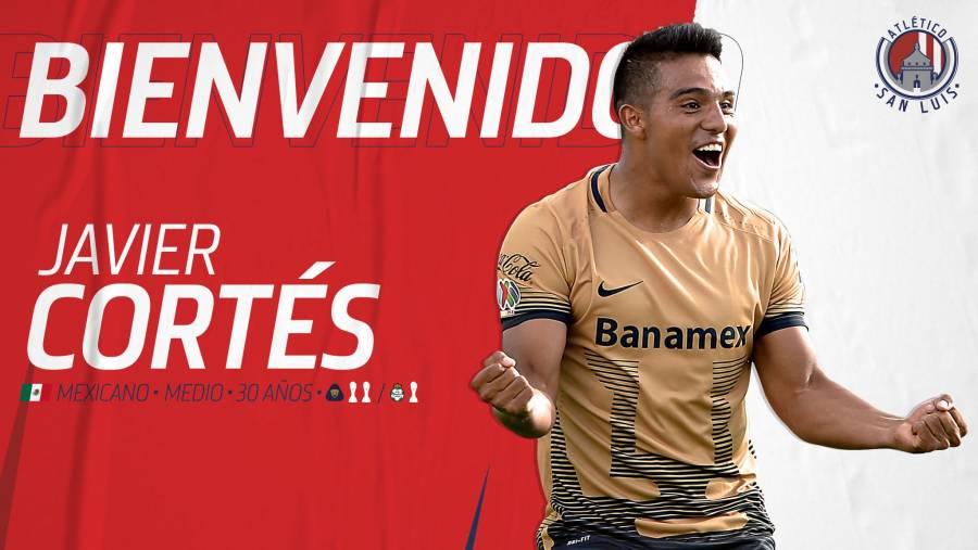 Atlético San Luis contrata a Javier Cortés