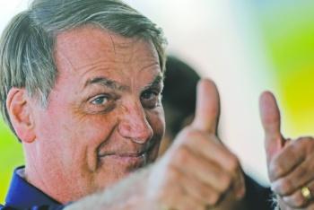 Apoyo a la democracia  en Brasil en 7% menor
