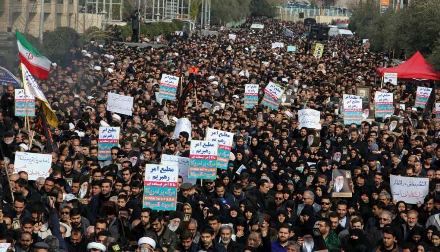 Miles de iraníes salieron a las calles en repudio a EU; amenazan con venganza