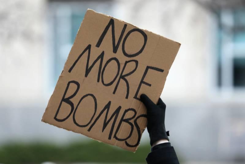 Se manifiestan en Washington y otras ciudades de EU contra ataque aéreo en Irak