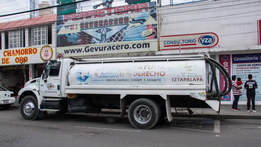 34 colonias y cuatro hospitales afectados por el corte del agua en Iztapalapa