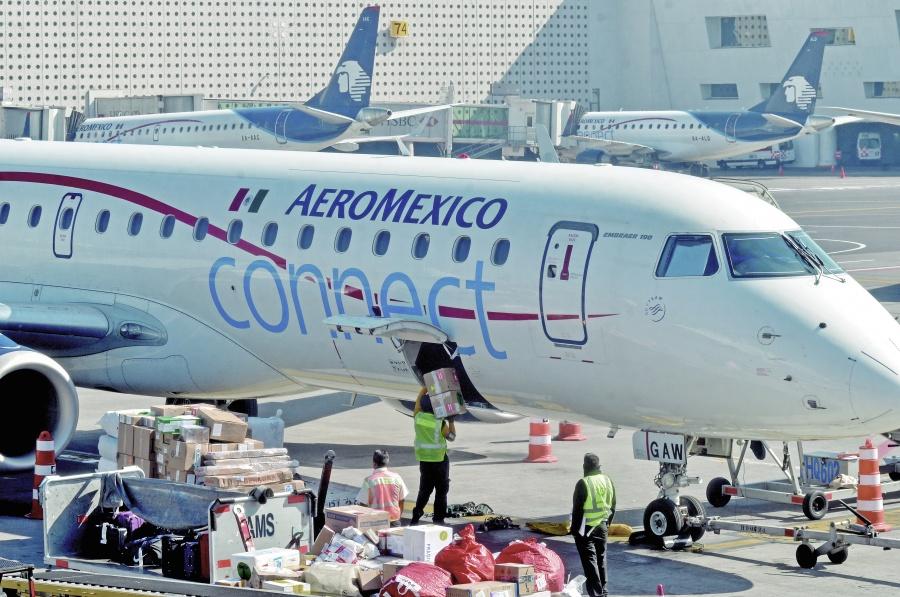 Bajan 5.4% pasajeros de Aeroméxico durante 2019