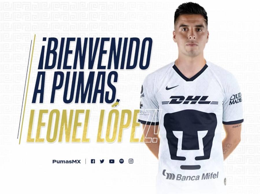 Leonel López se une a los Pumas