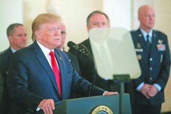 Trump responde a bombardeos  en Irak con sanciones