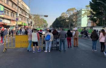 Manifestantes bloquean Circunvalación en inmediaciones de la Merced