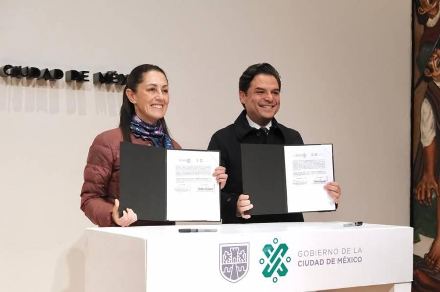 Firman convenio CDMX e IMSS para mejorar servicio a derechohabientes