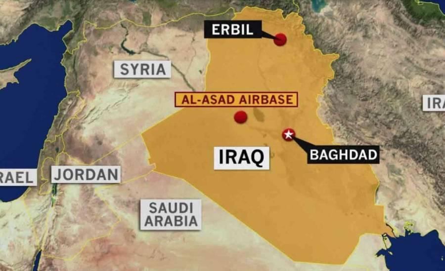 Misiles impactan base militar en Irak