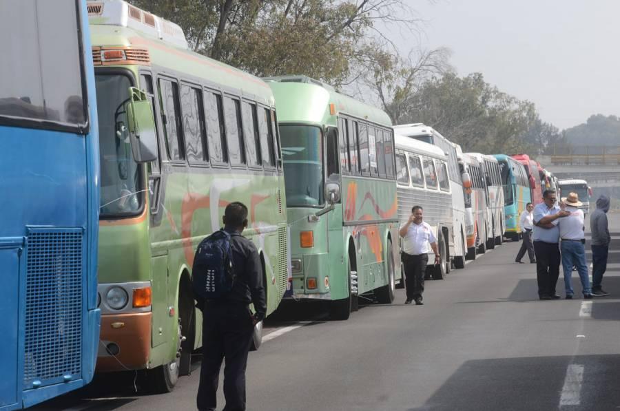Transportistas liberan accesos a la CDMX tras protestas