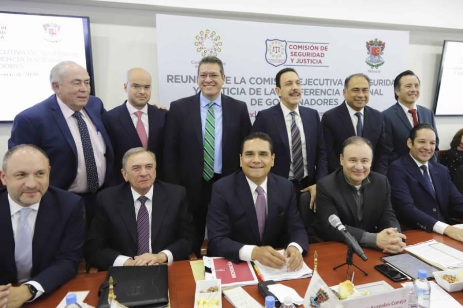 Se reúne Durazo con integrantes de la Comisión de Seguridad de la Conago