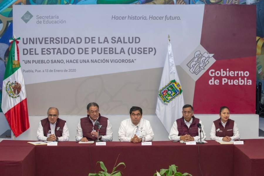 Presenta Gobernador la Universidad de la Salud de Puebla