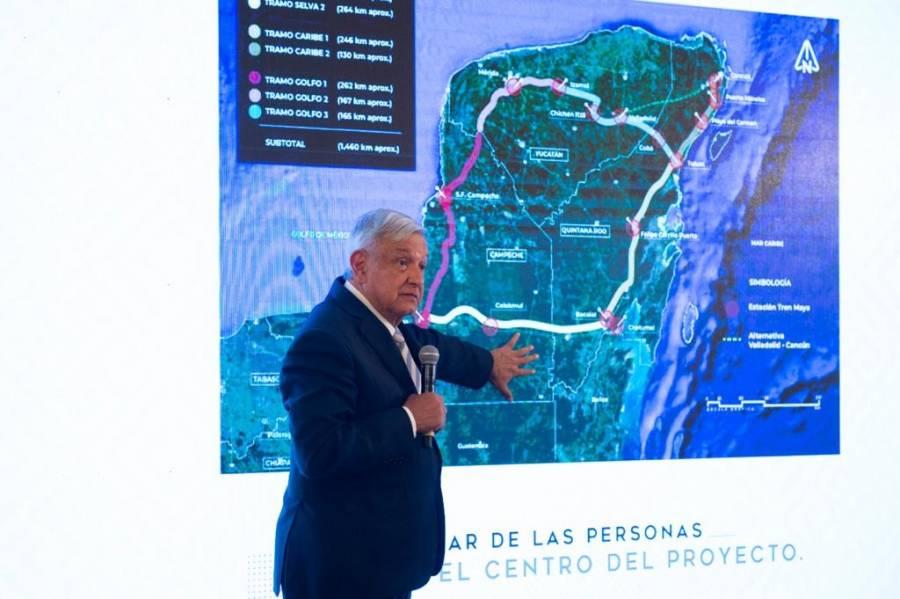Indica AMLO que en este gobierno estará listo el tren maya
