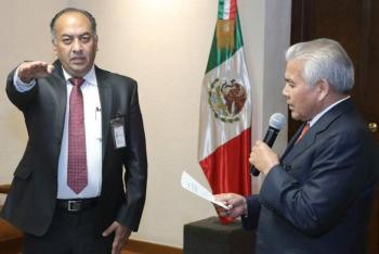 David Méndez rinde protesta como secretario de Gobernación en Puebla