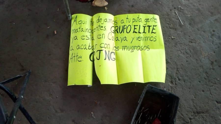 Asesinan a 9 personas en Guanajuato, 7 en Tarimoro y dos más en Celaya
