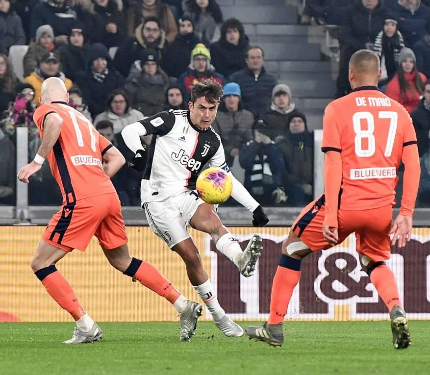 Juventus golea al Udinese y avanza a cuartos en la Copa Italia