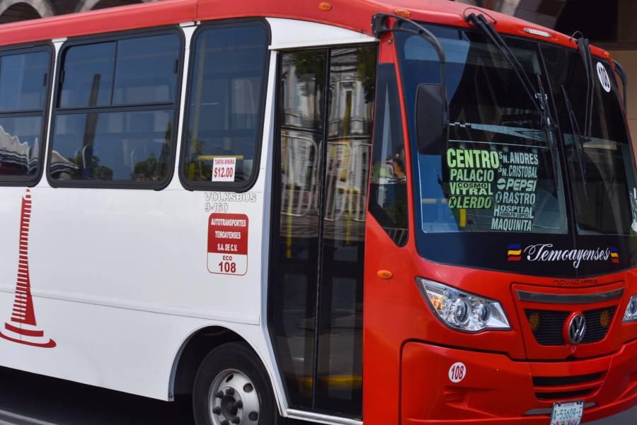 Buscan revertir alza a tarifas en transporte de Edomex