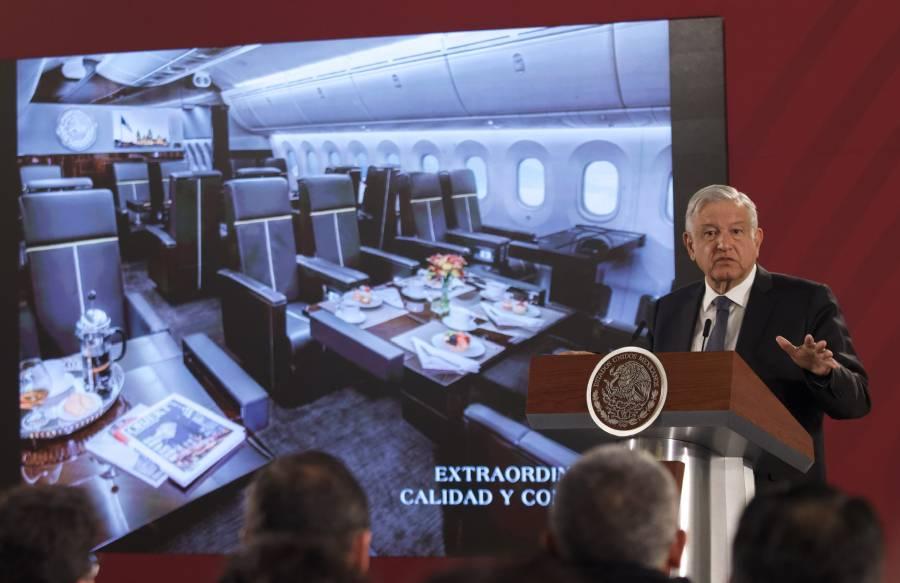 Titular de SCT no ve factible rifa para vender el avión presidencial