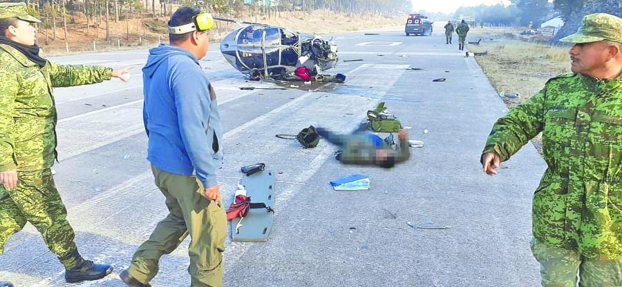 Se desploma helicóptero de laSedenadurante operativo