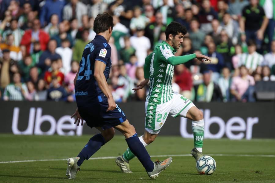 Debuta Guido en victoria del Betis; Guardado juega y Lainez es banca