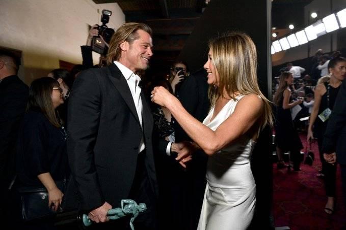 Brad Pitt y Jennifer Aniston, la sensación de la noche en los premios SAG