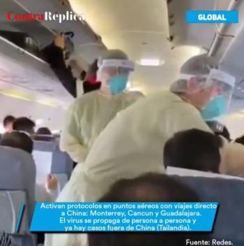 Coordinan protocolos de seguridad en aeropuertos, para prevenir coronavirus en China.