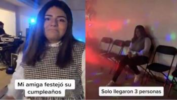 Se viraliza video de fiesta de cumpleaños con 3 invitados