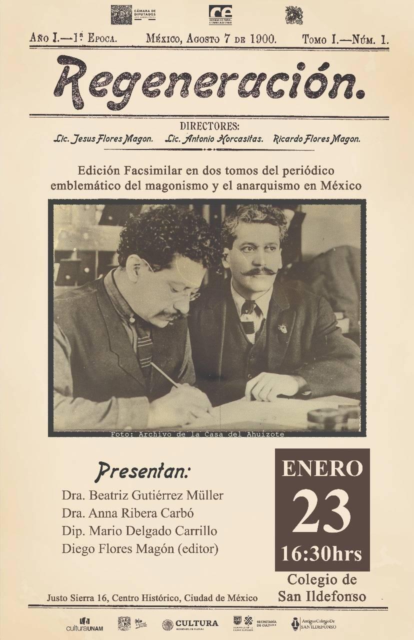Editan reproducción de Regeneración, periódico de los hermanos Flores Magón de principios del siglo XX
