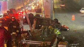 Una volcadura en Circuito Interior causa dos muertos