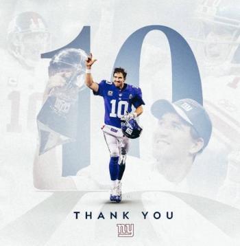 Giants anuncian el retiro de Eli Manning
