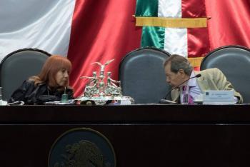 No permiten tomar la palabra a Porfirio Muñoz Ledo en la Permanente