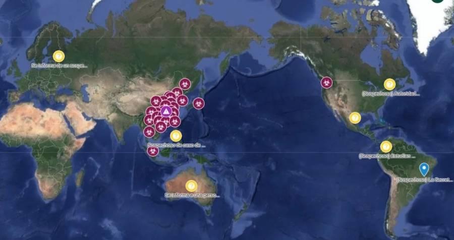 Google crea mapa para seguir en directo casos de coronavirus