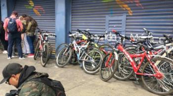 Aseguran inmueble y recuperan 70 bicicletas en la alcaldía Cuauhtémoc
