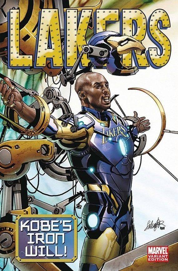 Kobe Bryant también se recordará por colaborar con Marvel Comics