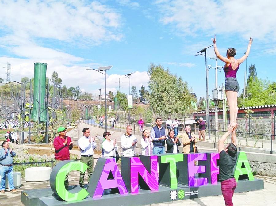 Inaugura Sheinbaum parque La Cantera en Coyoacán