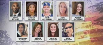 Estas son las víctimas del accidente donde murió Kobe Bryant