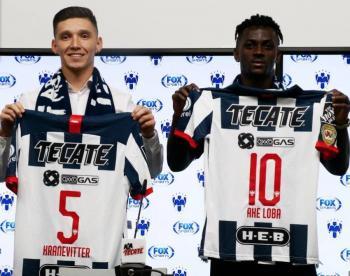 Matías Kranevitter y Ake Loba, presentados como nuevos jugadores del Monterrey