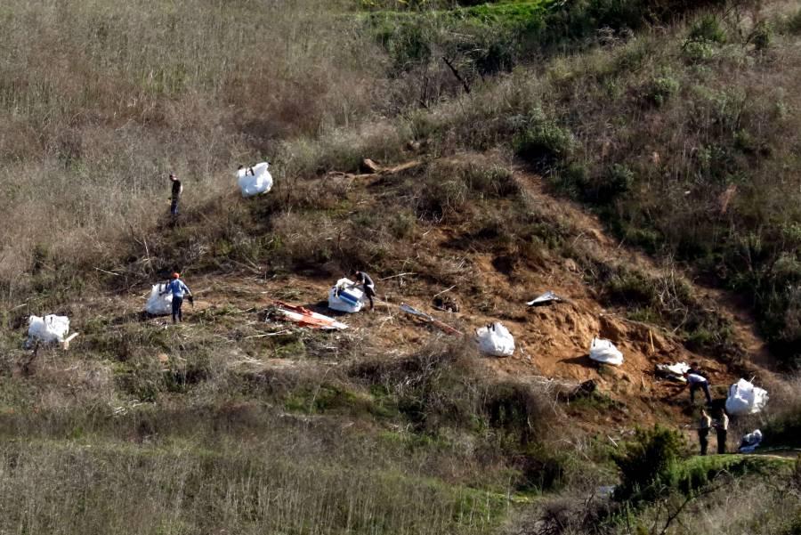 Recuperan cuerpos de la víctimas del accidente donde murió Kobe Bryant