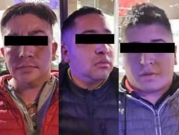 Detienen a tres individuos que asaltaban en Periférico