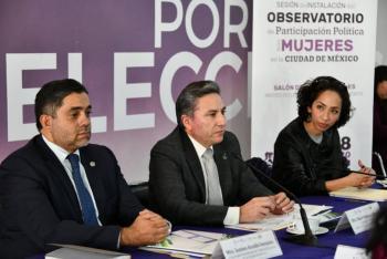 Instala Observatorio de Participación Política de Mujeres el IECM