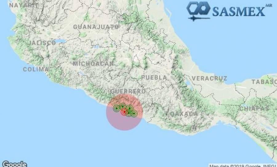 Reportan sismo de magnitud 5.2 al noroeste de Acapulco