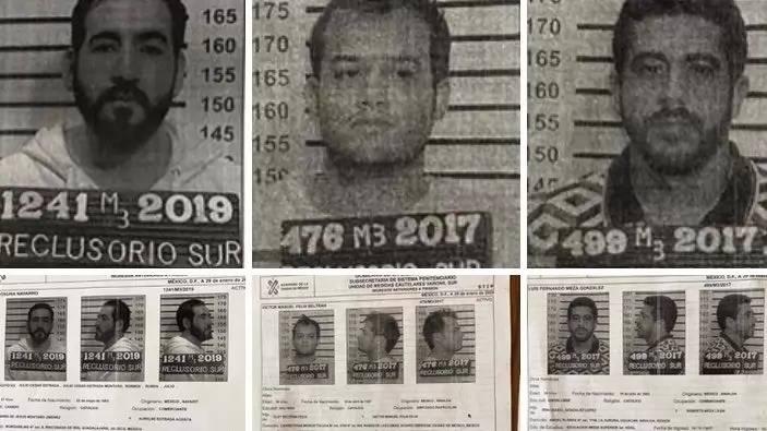 Tres de los prófugos del Reclusorio Sur tienen solicitud de extradición a EU