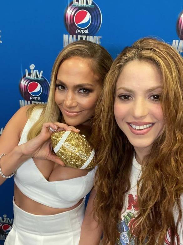 Jennifer Lopez y Shakira listas para el Super Bowl LIV