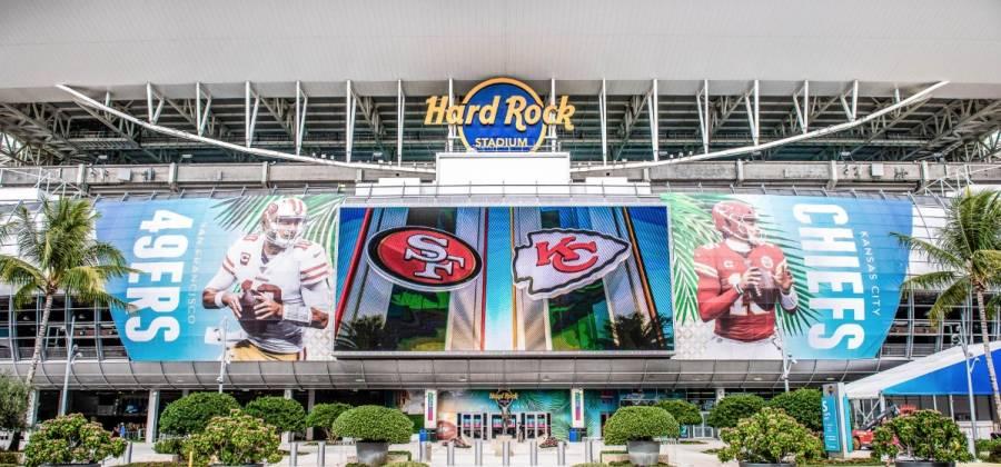 Este es el Hard Rock Stadium, sede del Super Bowl LIV