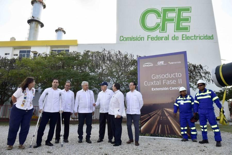López Obrador afirma que  habrá acceso al gas natural para Península de Yucatán
