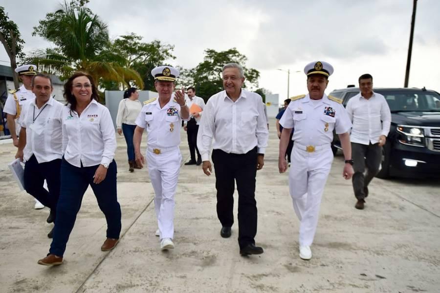 Atestigua AMLO rehabilitación urbana de Solidaridad, Quintana Roo