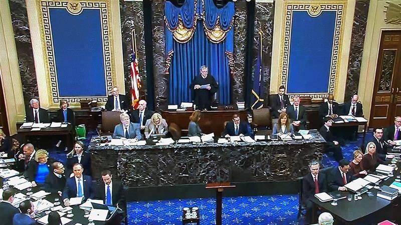 Reanudan sesión para alegatos finales en juicio político de Donald Trump