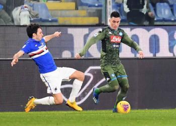Napoli gana a la Sampdoria y Gattuso deja en la banca a Lozano