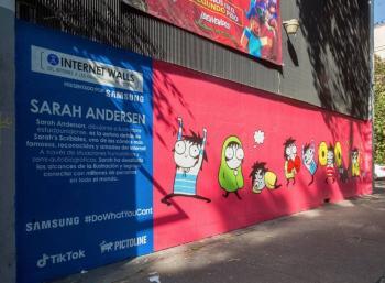A una semana de creado, vandalizan mural de Sarah Andersen en la Roma